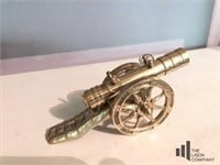 Collectible Brass Cannon Figure