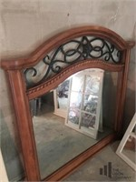 Wooden and Metal Mirror