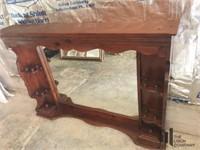 Large wooden mirror / shelf