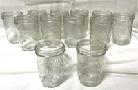 Set of 12, 1 pint canning jars in box
