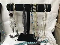 Lot of costume jewelry-stands not included