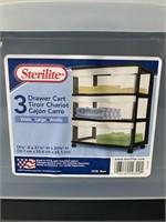 Sterilite 3 Drawer Cart
