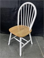 Whalen White/Natural Wood Dining Chair