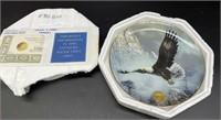 Eagle commemorative plate and CSA