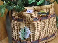 Fish Basket with Greenery