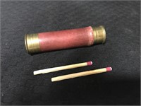 Camping wooden matches in canister