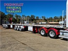 2018 Freighter Flat Top Trailer B Double Trailer Set
