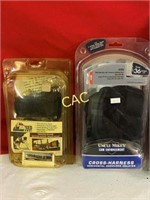 Box Lot of Holsters & 1 Gun/Bow Rack