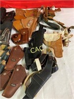 Box Lot of Asst Handgun Holsters