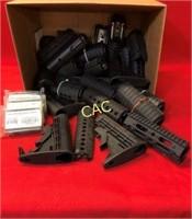 Box Lot of AR Parts/Stocks