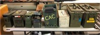 Entire Lot -8pc Ammo Cans Full of Asst Ammo & Mags