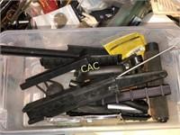 Box of Gun Parts, Mags, Mag Ext, Tools, Etc.