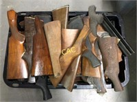 Tote of Rifle Butt Stocks