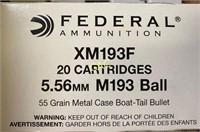 20rds Federal 5.56 M193Ball