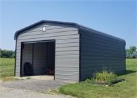 Enclosed Carport w/Doors-25' x 18' x 12'