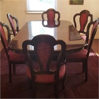 CHERRY DINING ROOM TABLE & CHAIRS