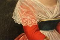 C. 1860 American Oil Portrait Sea Captain's Wife