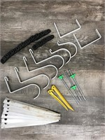 Assorted Stakes and Hooks