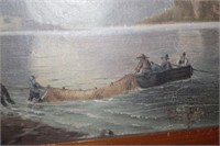 Fishing Landscape Oil Painting