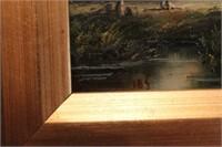 19th C Dutch Oil Landscape - signed