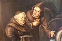 Monk Caught Sleeping at Beer Keg Oil - signed