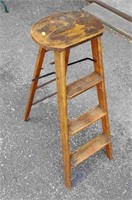 Vintage wood Crackerjac ladder stool