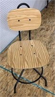 IKEA natural wood & iron swivel chair