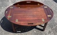 Mahg. butler tray table