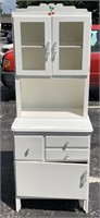 Small painted hoosier cabinet