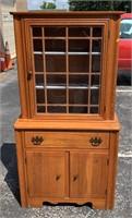 Small oak kitchen china cabinet