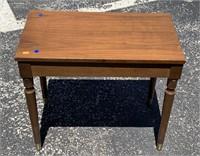 Brass tipped leg piano stool