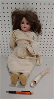German bisque head doll #370 A 1 1/2