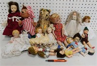 Assorted lot of dolls & lot