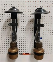 Pr. antique Dressel RR oil lanterns