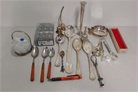 Lot of assorted silver plate & flatware