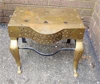 Antique brass fire place stool/trivet