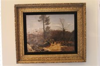 Spring Landscape Oil Painting Signed