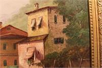 European Landscape Oil Painting - Signed
