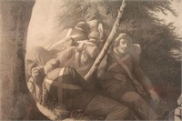 Lot of 2 Historical Engravings