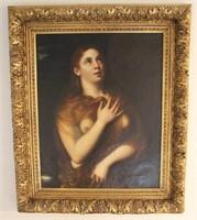 Old Master Painting of Maria Magdelana Titan 1877