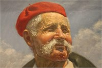European Character Study of Peasant Playing Flute