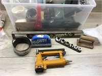TOTE OF PLUMBING PARTS AND ACCESSORIES