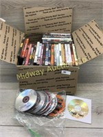 BOX LOT OF VARIOUS DVD MOVIES
