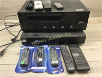 STEREO RECIEVER AND 5 DISC CD PLAYER