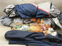 2 BOXES OF VARIOUS TENTS AND TENT POLES (WE HAVE N