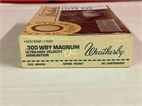 20rds Weatherby 300wby magnum 165gr