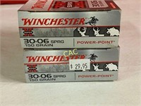20rds Winchester 30-06sprg 150gr