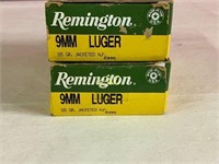 50rds Remington 9mm luger 115gr Jacketed HP