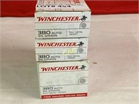 200rds Winchester 380auto 95gr fmj