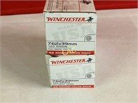 40rds Winchester 7.62x39mm 123gr fmj